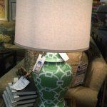 Green Lattice Lamp