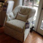 Swivel Bird Print Chair