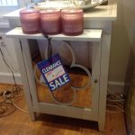 Glass Front Cabinet/End Table