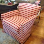 Red Striped Chair