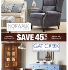 Huge Savings in February on Norwalk & Gat Creek Furniture … Plus Company C and Annie Selke!