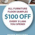 Floor Sample Savings Sale!