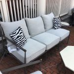 Outdoor Cast Aluminum Sofa