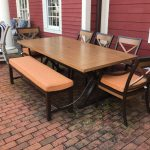 Outdoor Dining Table with 4 Chairs and Bench