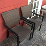 Outdoor Wicker Arm Chairs
