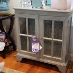 Small Console with Glass Doors